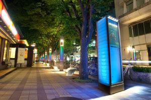 新潟市万代シティ 演出照明