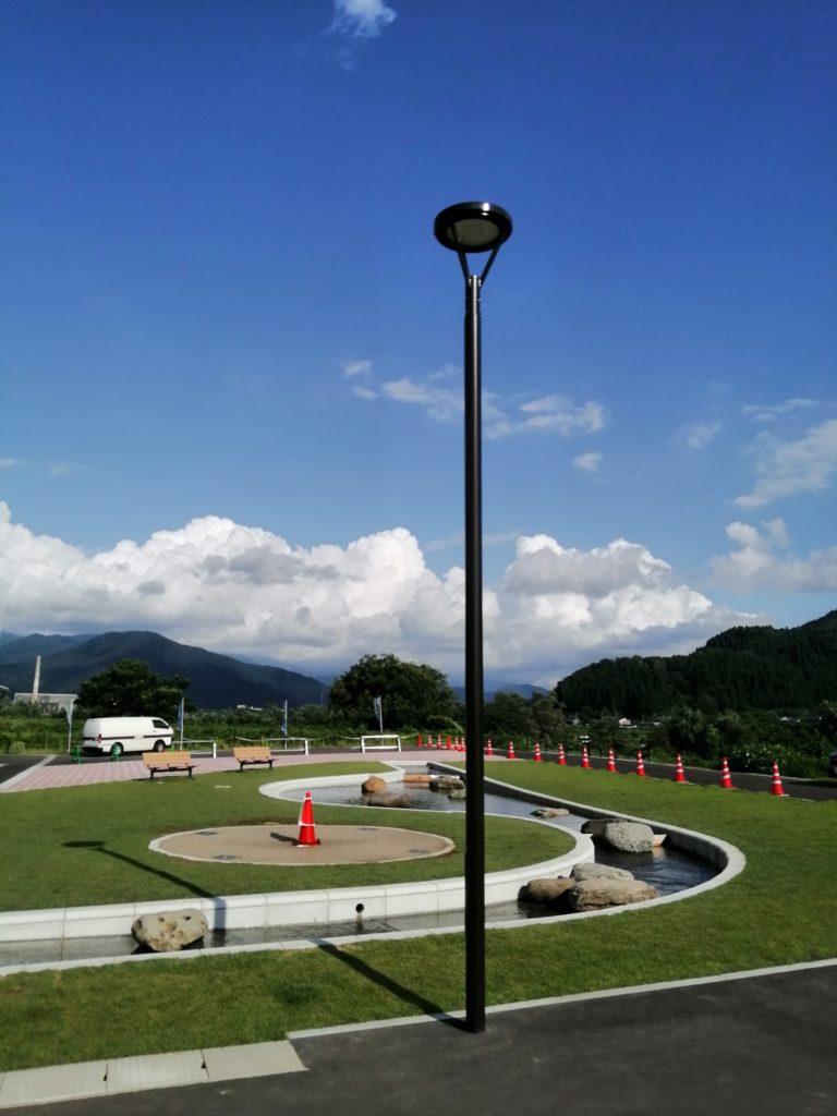 道の駅恐竜渓谷かつやま駐車場照明灯