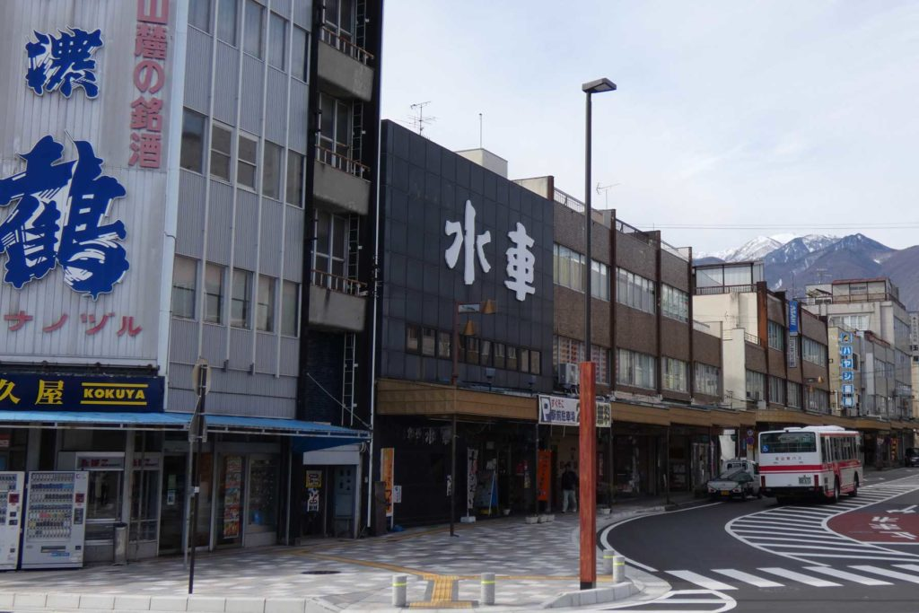 長野県駒ケ根駅前広場 道路灯