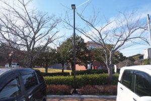 藤枝市蓮華寺公園の駐車場照明