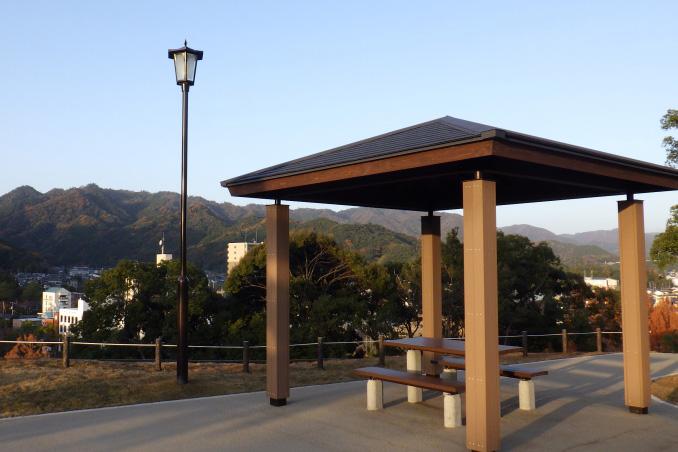 山口県 亀山公園 公園灯