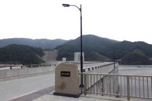 福岡県五ケ山ダム 車道照明灯