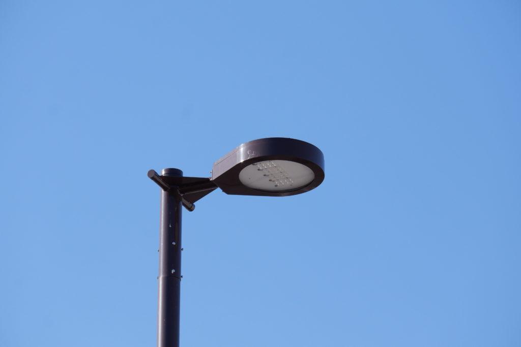 駅前照明の器具アップ