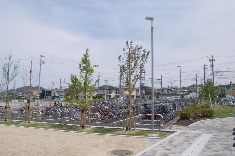 小牧市 名鉄 田県神社前駅 駐輪場照明