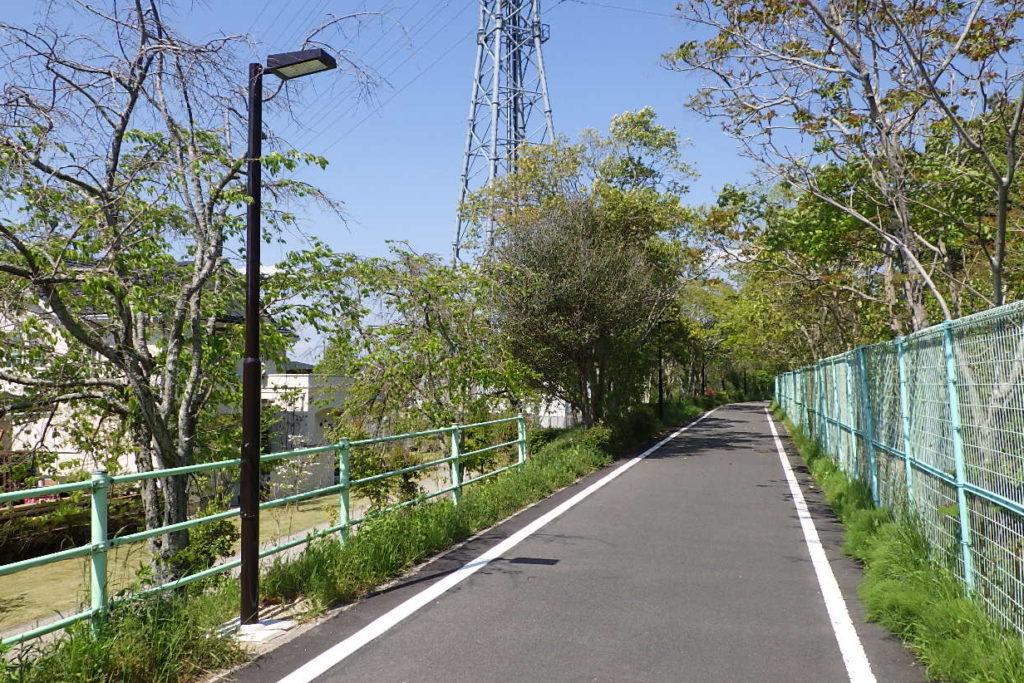 愛知県豊田市 枝下緑道 歩道照明灯
