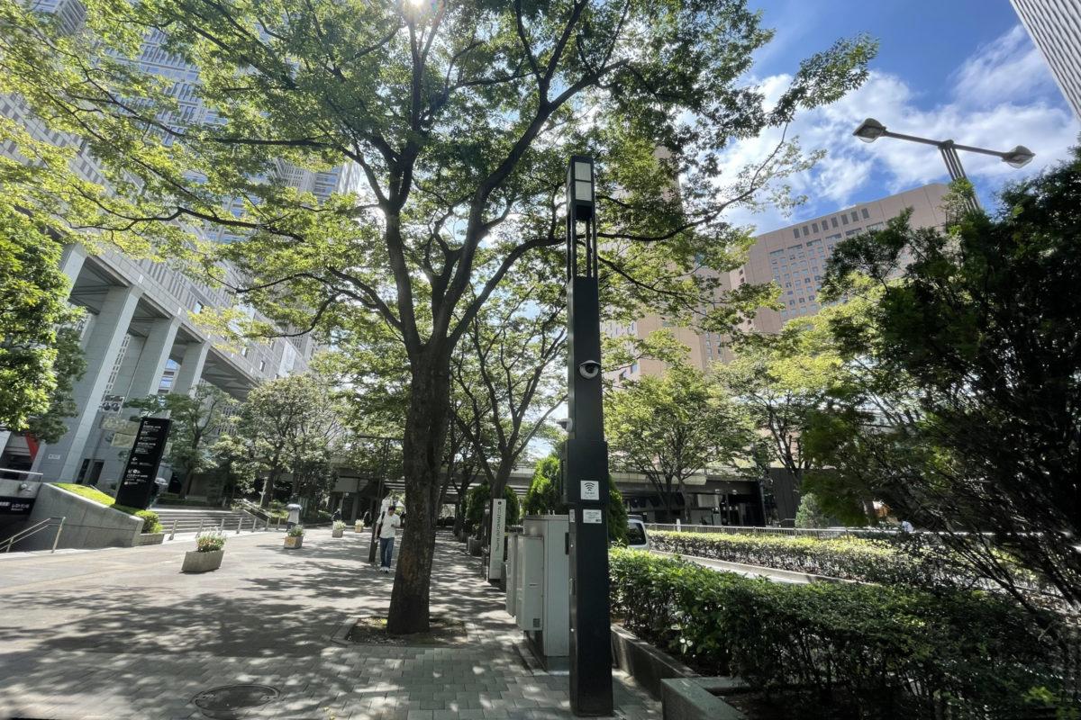 東京都新宿区 西新宿 都庁 スマート街路灯